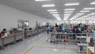 hệ thống loa xưởng may