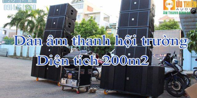 dàn âm thanh cho hội trường diện tích 200m2