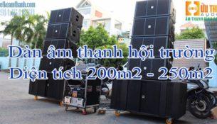 Dàn âm thanh hội trường diện tích 200m2-250m2