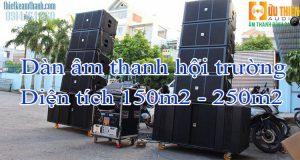 Dàn âm thanh hội trường diện tích 150m2 - 250m2
